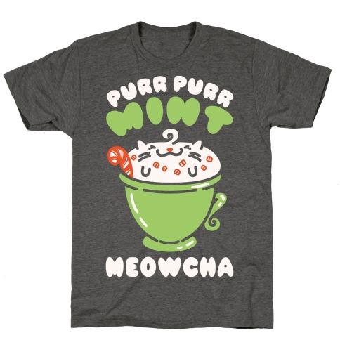 Purr Purr Mint Meowcha Mens/Unisex T-Shirt