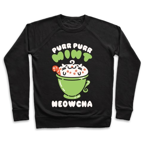 Purr Purr Mint Meowcha Pullover
