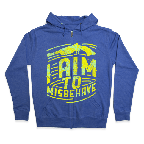 Misbehave (dark) Zip Hoodie