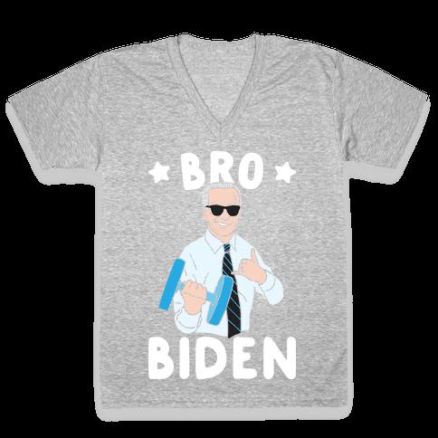 Bro Biden V-Neck Tee Shirt