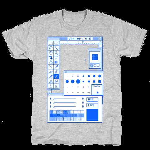 Photoshop Pixel Tools Mens T-Shirt