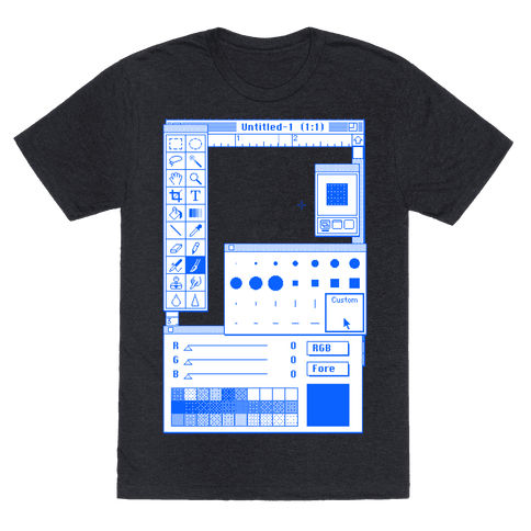 Photoshop Pixel Tools Mens T-Shirt