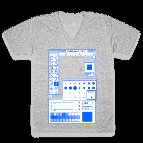 Photoshop Pixel Tools V-Neck Tee Shirt