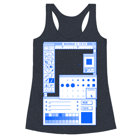 Photoshop Pixel Tools Racerback Tank Top