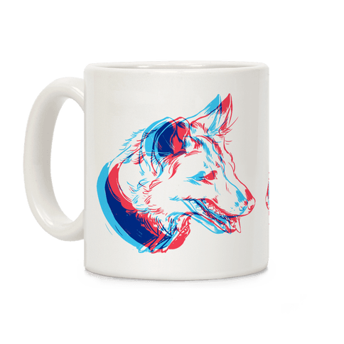 3D Dog Head Coffee Mug