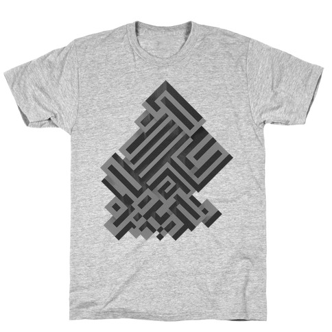Bismuth Maze Mens T-Shirt