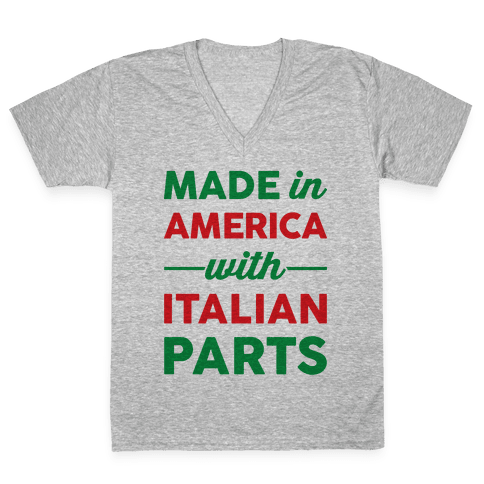Made In America With Italian Parts V-Neck Tee Shirt