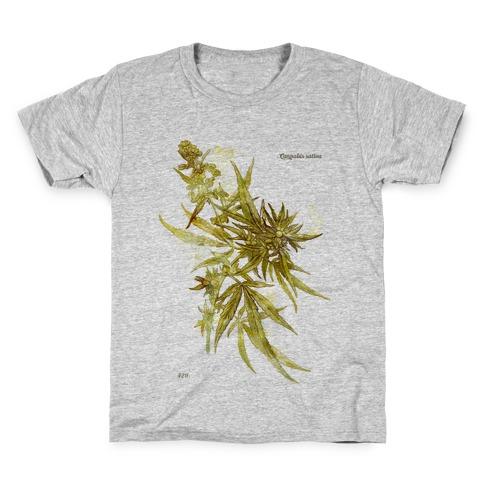 Cannabis Botanical Illustration Kids T-Shirt