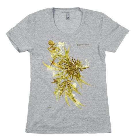 Cannabis Botanical Illustration Womens T-Shirt