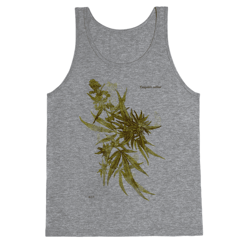 Cannabis Botanical Illustration Tank Top