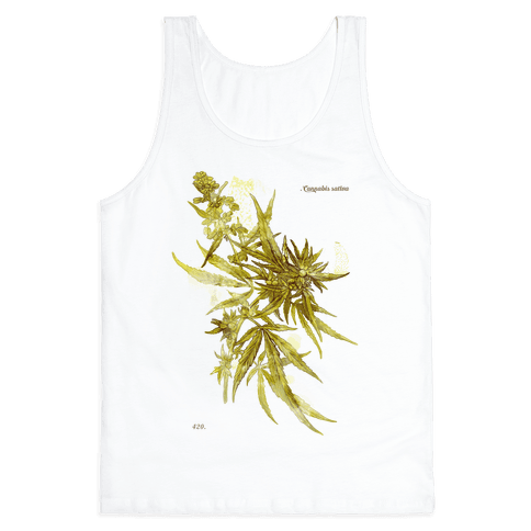 Cannabis Botanical Illustration Tank Top