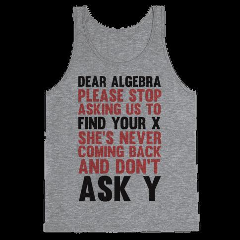 Dear Algebra Tank Top
