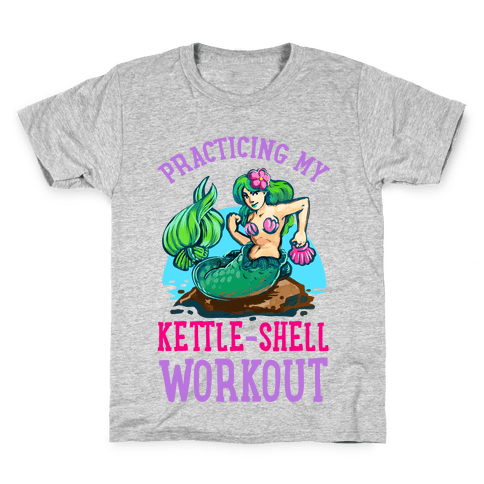 Practicing My Kettle-Shell Workout! Kids T-Shirt