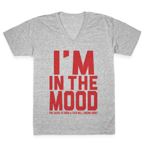 I'm in the Mood (For Tacos) V-Neck Tee Shirt