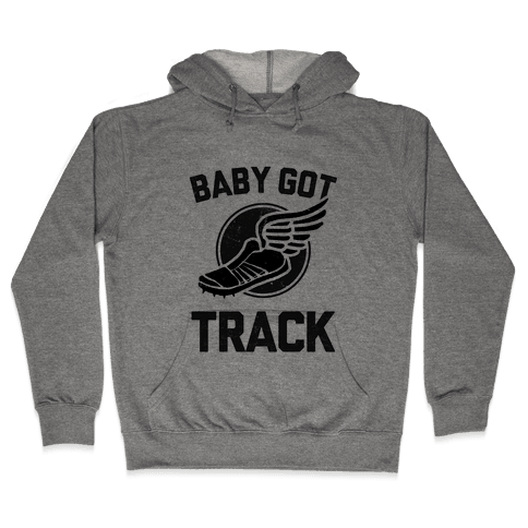 Baby Got Track (Dark) Hooded Sweatshirt