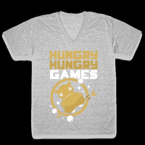 Hungry Hungry Games V-Neck Tee Shirt