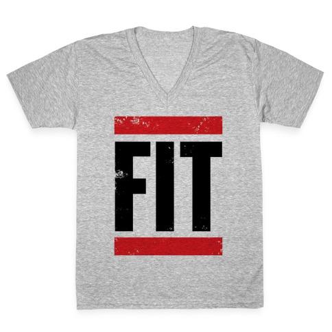 Fit V-Neck Tee Shirt