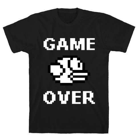 Game Over (Flappy Bird) Mens T-Shirt