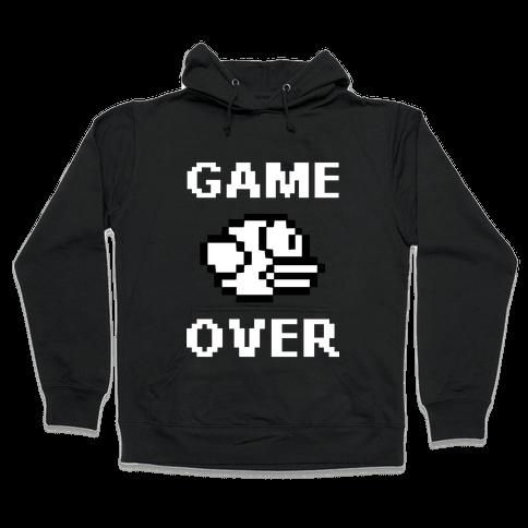 Game Over (Flappy Bird) Hooded Sweatshirt