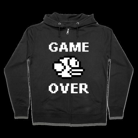 Game Over (Flappy Bird) Zip Hoodie
