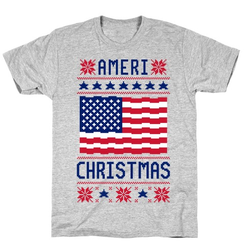 Ameri' Christmas Ugly Sweater T-Shirt
