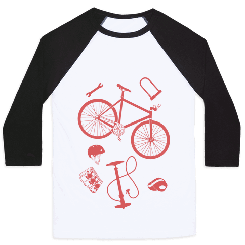 fixed gear cycling tools Baseball Tee