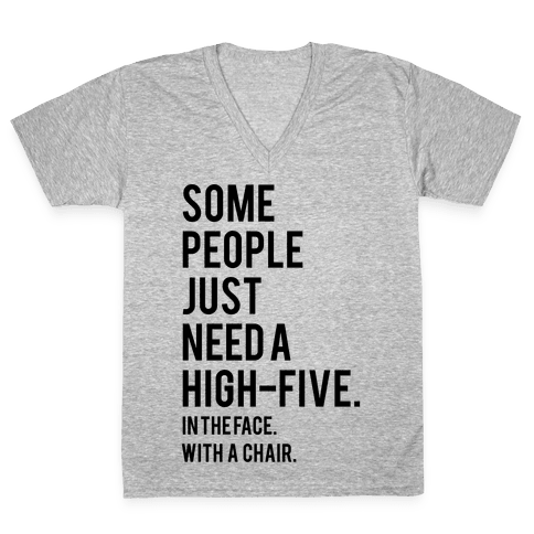 High Five V-Neck Tee Shirt