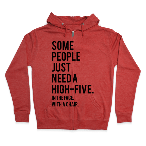 High Five Zip Hoodie