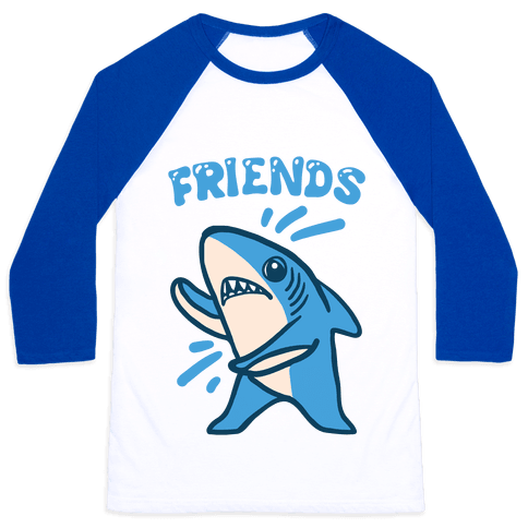 Best Friend Sharks (Part 2) Baseball Tee