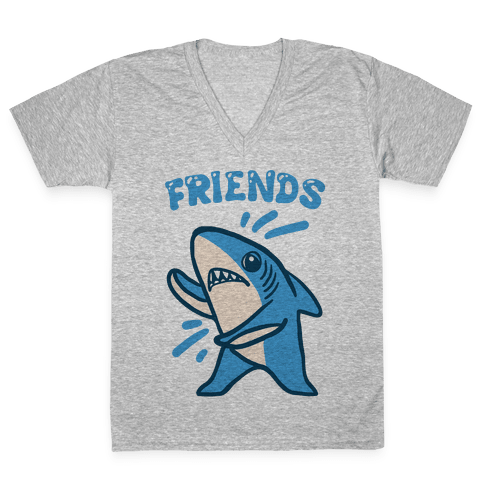 Best Friend Sharks (Part 2) V-Neck Tee Shirt
