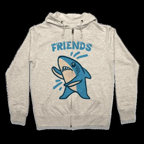 Best Friend Sharks (Part 2) Zip Hoodie