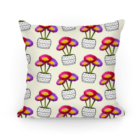 Colorful Daisy Pattern Pillow