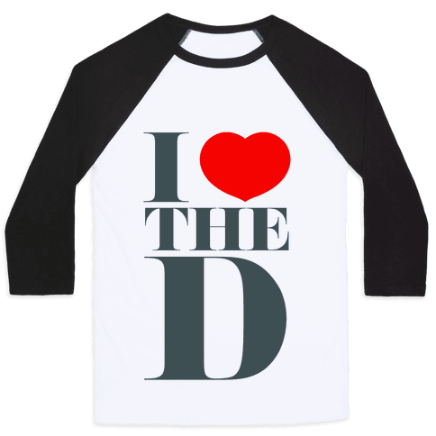 I Love the D Baseball Tee