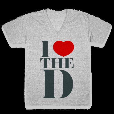 I Love the D V-Neck Tee Shirt