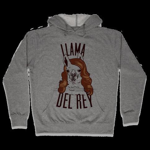 Llama Del Rey Hooded Sweatshirt