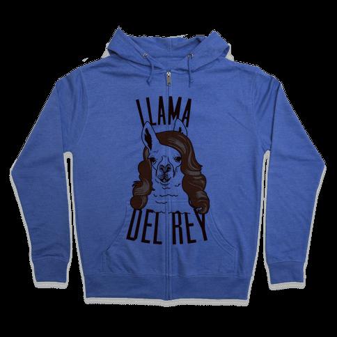 Llama Del Rey Zip Hoodie