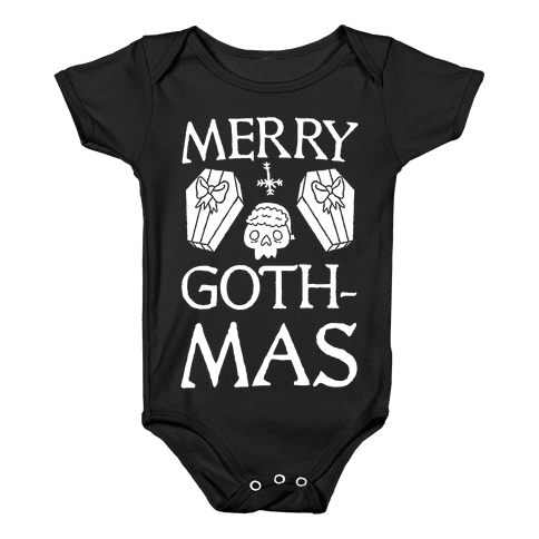 Merry Gothmas Baby Onesy