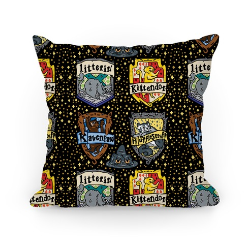 Hogwarts House Cats Pillow