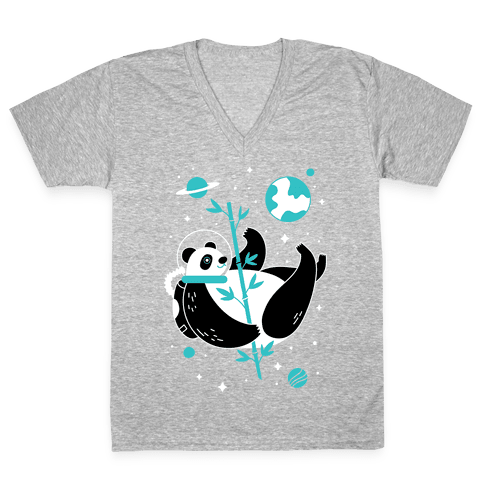 Space Panda V-Neck Tee Shirt