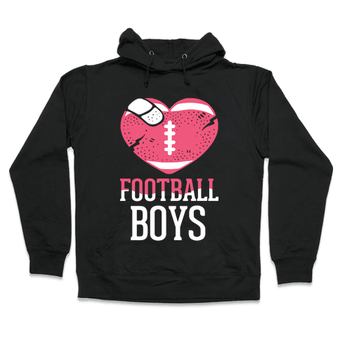 Football Boys Hooded Sweatshirt