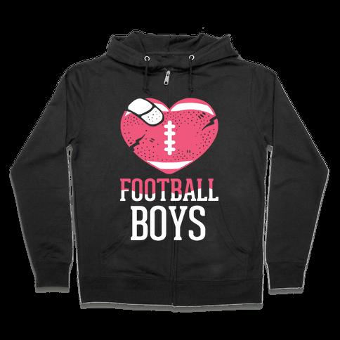 Football Boys Zip Hoodie