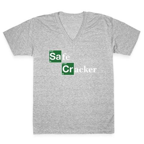 Safe Cracker V-Neck Tee Shirt
