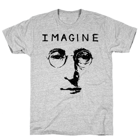 Imagine (Vintage Shirt) Mens T-Shirt