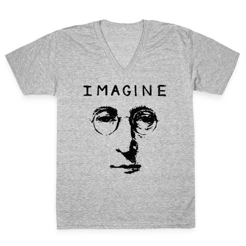 Imagine (Vintage Shirt) V-Neck Tee Shirt