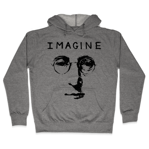 Imagine (Vintage Shirt) Hooded Sweatshirt