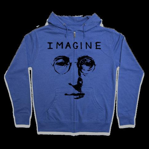Imagine (Vintage Shirt) Zip Hoodie