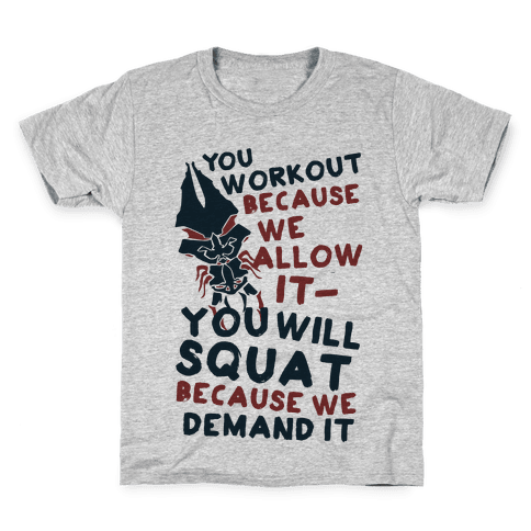 You Workout Because We Allow It Mass Effect Reapers Workout Parody Kids T-Shirt