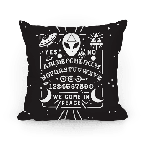 Occult Alien Ouija Board Pillow