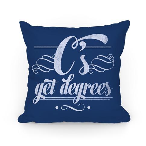 C's Get Degrees (Blue) Pillow