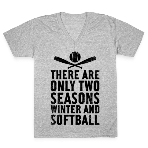 There Are Only Two Seasons (Vintage) V-Neck Tee Shirt